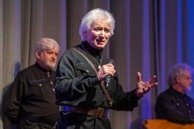 Peter Orloff leitet den Chor der Schwarzmeer-Kosaken. Diesmal gastierte man in kleiner Besetzung in Rodewisch.