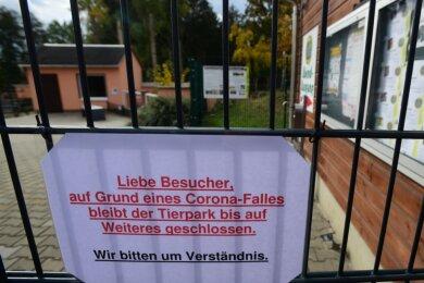 Der Amerika-Tierpark in Limbach Oberfrohna musste am Freitag kurzfristig wegen eines Corona-Falles im Kreis des Personals geschlossen bleiben. Auch über das Wochenende ist kein Besuch der Einrichtung möglich.