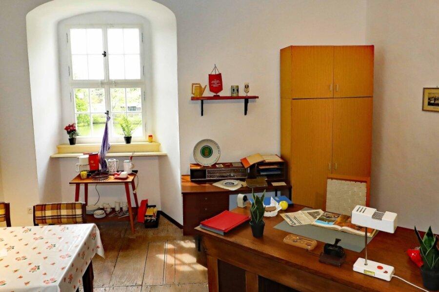 So soll das Büro von Museumsgründer Joachim Piehler ausgesehen haben.