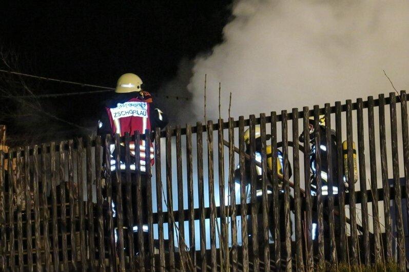 Carport in Zschorlau brennt nieder