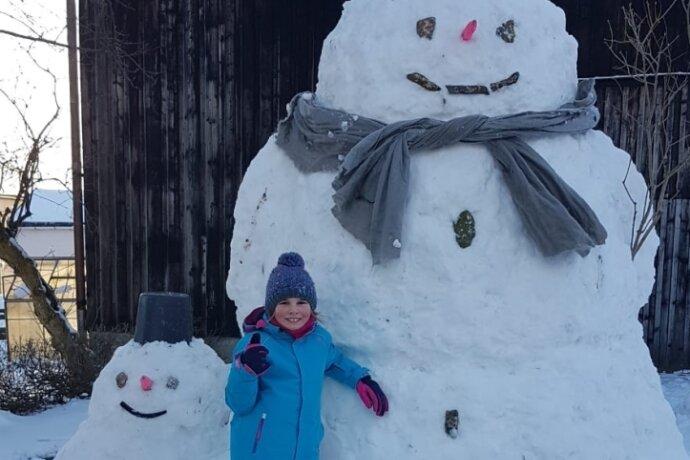 Groß, größer, Schneemann