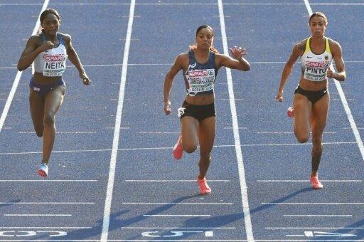 Pinto (r.) geht über die 200 Meter nicht an den Start