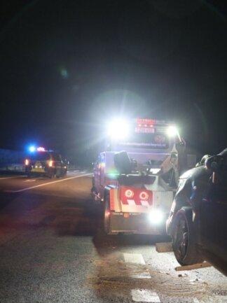 Zwei Autos waren am Donnerstagabend auf der B 173 zusammengestoßen.
