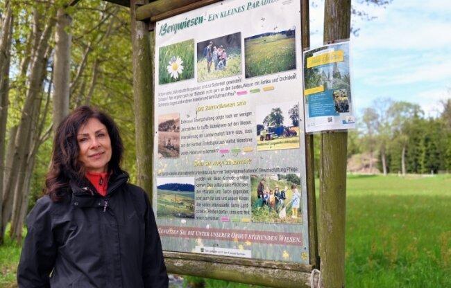 Sylvia Krüger ist zunächst bis Ende 2022 bei der Gemeinde Zschorlau angestellt und betreut das Wanderwegekonzept Zschorlau-Bockau.