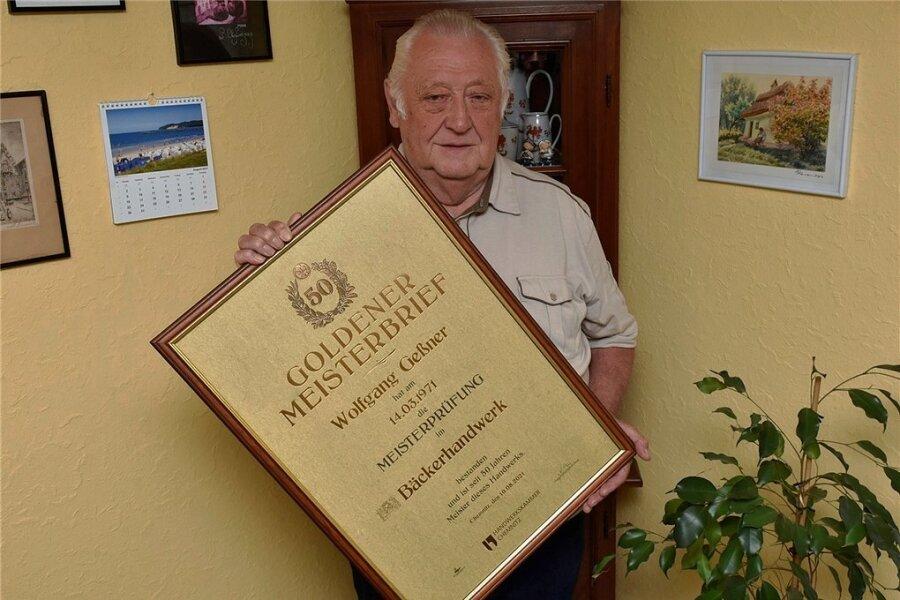 Bäckermeister Wolfgang Geßner. 2016 gab er sein Geschäft auf.