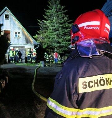 35 Kameraden der Feuerwehren aus Schönheide und Eibenstock waren im Einsatz.