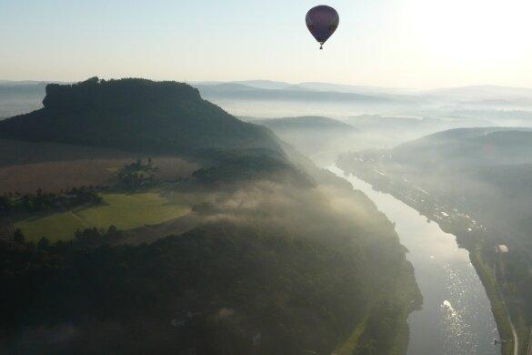 Herrliche Aussichten auf die Sächsische Schweiz.