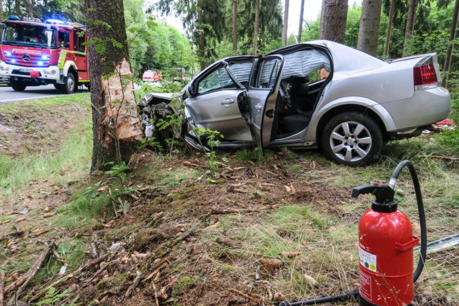 Auf der S270 ist am Samstagabend ein Opel von der Fahrbahn abgekommen und gegen mehrere Bäume geprallt.