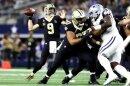Enttäuschte gegen die Cowboys: Drew Brees (l.)