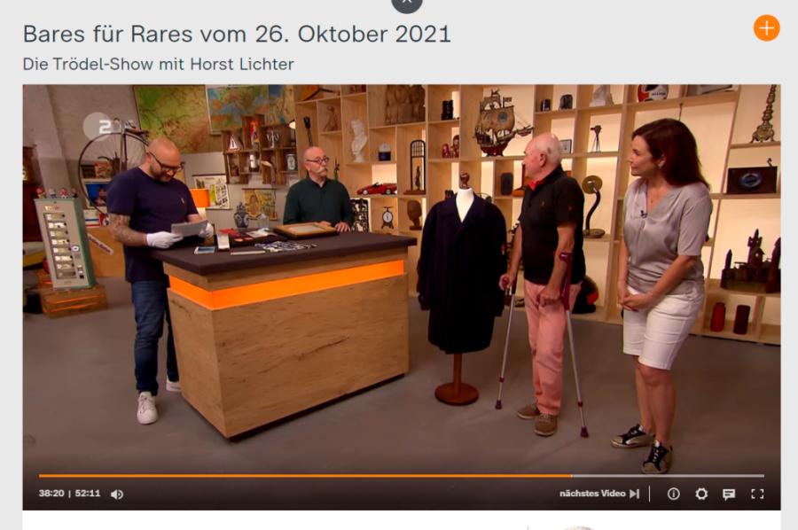 In der Sendung vom 26. Oktober war Günther Meinel (2. von rechts) zu sehen. Auch in der ZDF-Mediathek kann die Folge angeschaut werden.