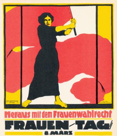 Ein Plakat zum Frauentag am 8. März 1914.