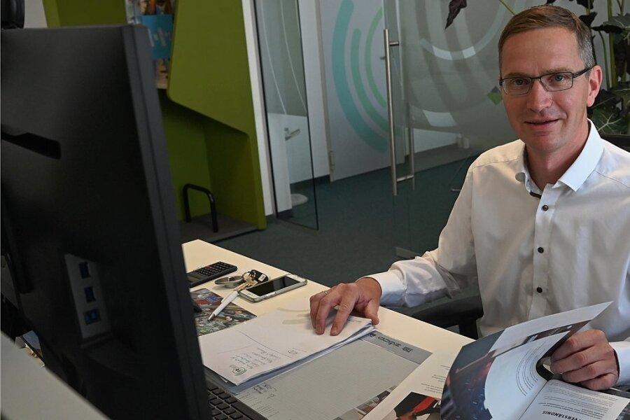 """Karsten Schulze, Geschäftsführer der Firma FDTech: """"In Chemnitz wächst etwas Neues, und das sehr schnell!"""""""