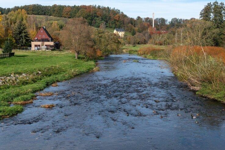 Blick auf die Chemnitz bei Göritzhain. Die Landestalsperrenverwaltung will entlang der Uferbereiche vorbeugend tätig werden und benötigt dafür Flächen.