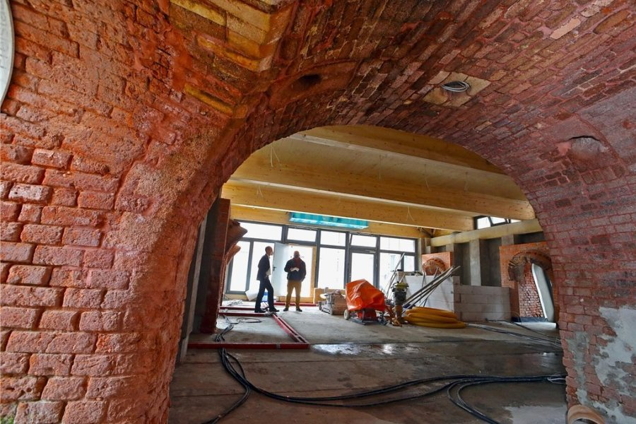Das Gewölbe im Inneren des historischen Ringofens, der erhalten werden konnte.