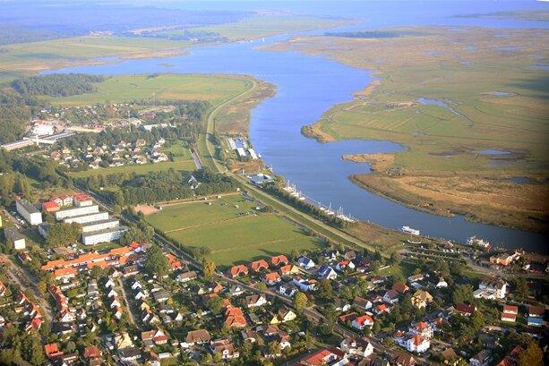 Der Ort Zingst auf der Halbinsel Fischland-Darß-Zingst