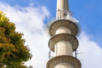 Der Funkturm Geyer ist der einzige im Erzgebirgskreis, über den DAB-plus-Signale verbreitet werden.