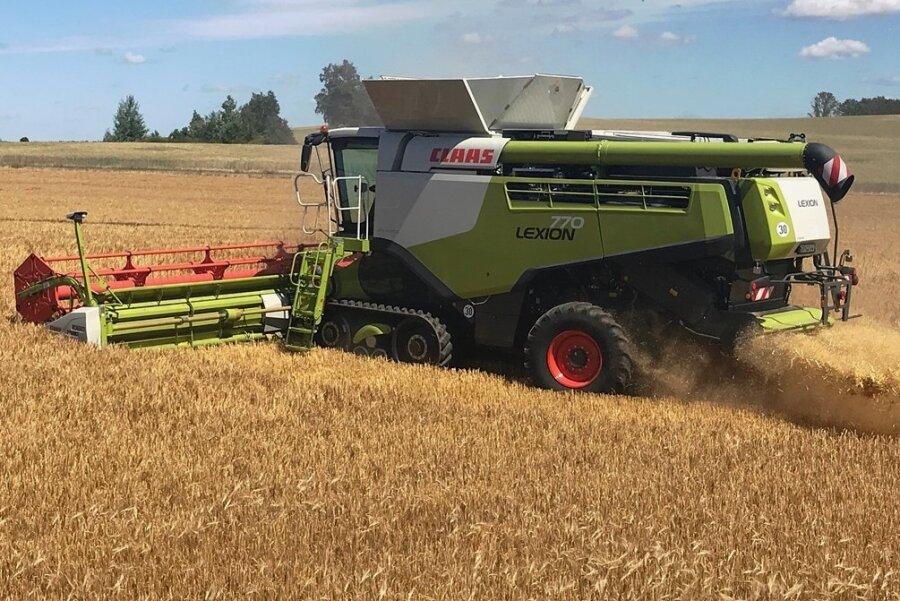 Getreideernte auf einem Feld bei Grimma. In nitratbelasteten Gebieten muss umgedacht werden.