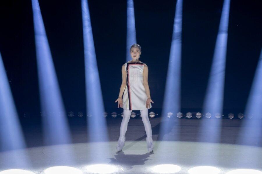 """Verkörpert die Hauptfigur Aurora: Soyoun Park aus Südkorea, WM-Neunte von Saitama 2014, war vor Ausbruch der Pandemie mit der """"Cirque du Soleil""""-Show in Kanada und den USA auf Tournee."""