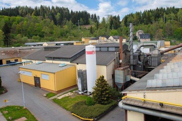 Blick über das Gelände der Gießerei in Schönheide.