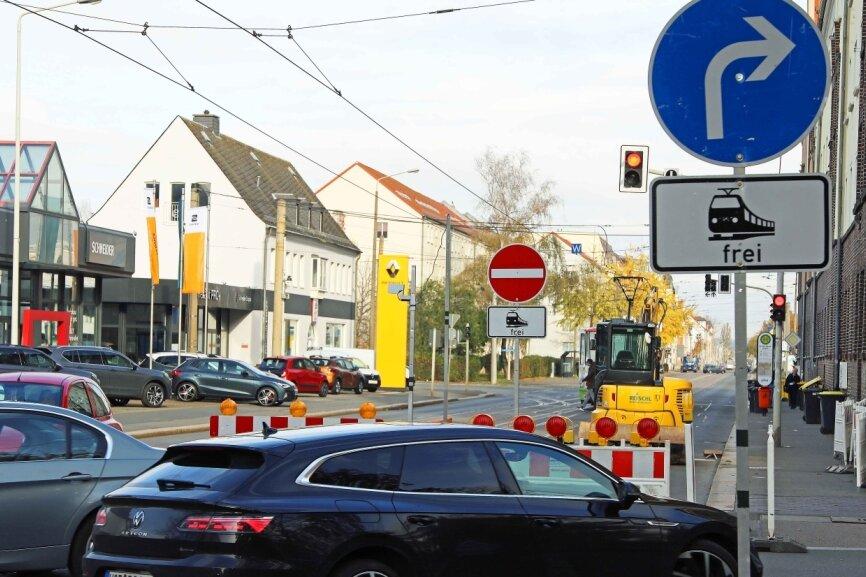 Ende der Sperrung auf der Leipziger Straße in Sicht