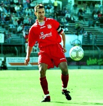 Lars Hermel im September 1997 als Kapitän des FSV im Heimspiel gegen Fortuna Köln (0:1).