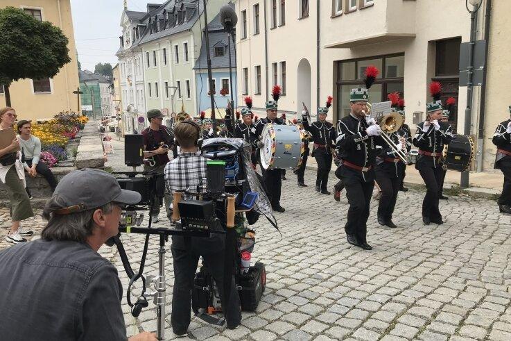 Mehrfach wurde in der Region für den Erzgebirgskrimi gedreht, hier in Schneeberg.
