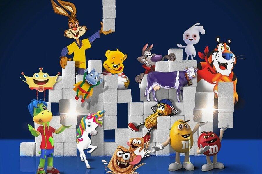 Verführen zu ungesunden Lebensmitteln: Tiger Tony, Hase Quicky, der Pombär und sprechende Smarties - Kinder kennen diese Comic-Charaktere aus der Werbung und erkennen sie im Laden auf den Produkten wieder.