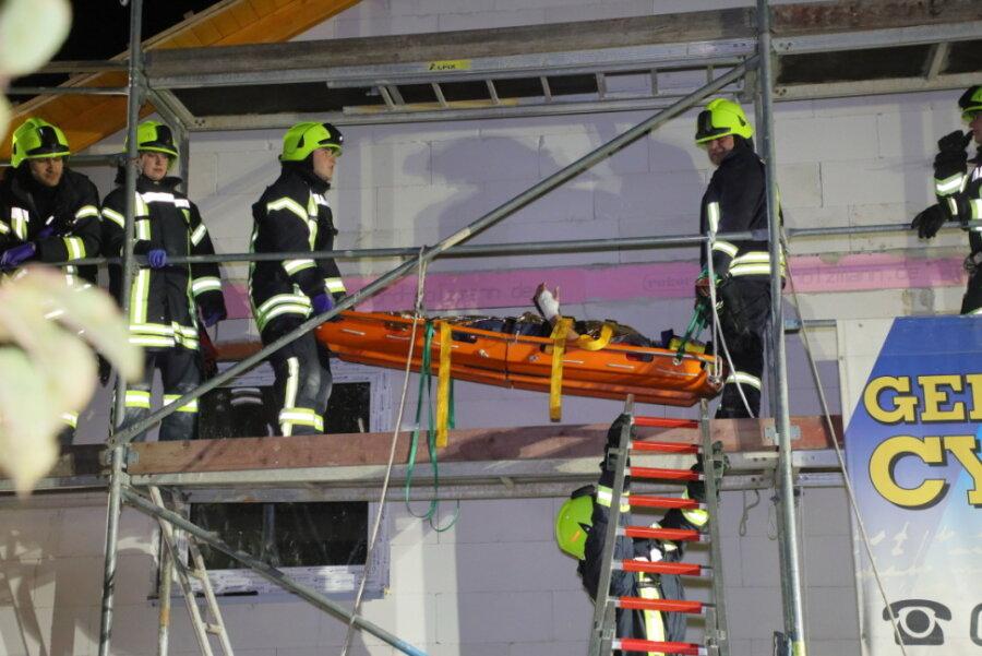 Freiwillige Feuerwehr übt am Venusberg für den Ernstfall
