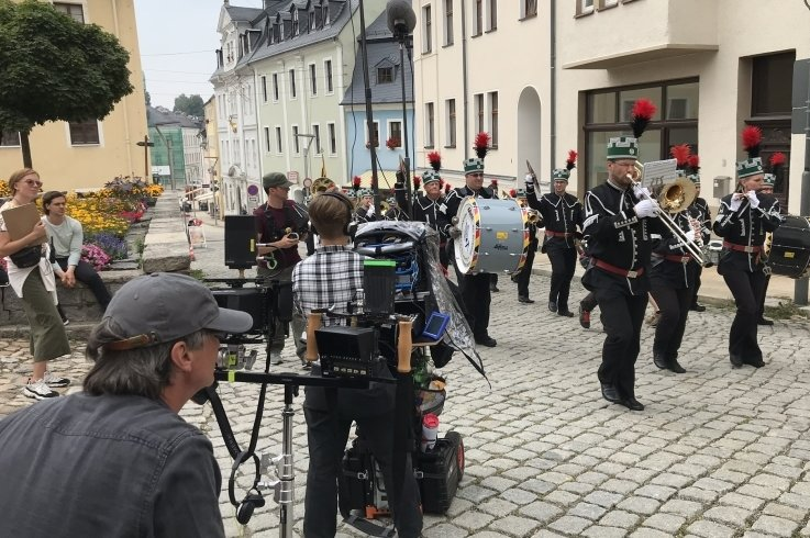 Mehrfach wurde in der Region für den Erzgebirgskrimi gedreht, hier etwa in Schneeberg. Wo verschlägt es die Kamerateams wohl demnächst hin?