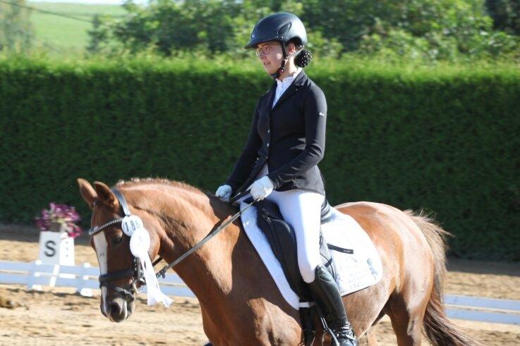 Die 15-jährige Joelina Rudolph aus Zwönitz nutzte das Turnier des RSV Weißbach zur Vorbereitung auf die Deutsche Meisterschaft.