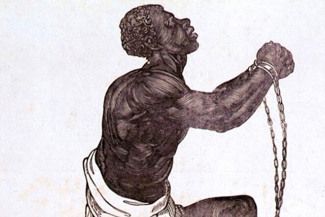 """Bereits Jahrzehnte vor dem Verbot von Sklavenhandel 1807 und -haltung 1833 gab es in England Kämpfer für die Abschaffung der Sklaverei. Das Emblem der British Anti Slavery Society mit dem Spruch """"Bin ich nicht ein Mensch und ein Bruder?"""" warb ab 1787 unter den Briten dafür, die versklavten Afrikaner als ihresgleichen zu begreifen."""