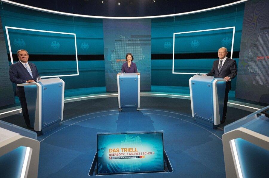 Kommentar zum TV-Dreikampf zwischen Baerbock, Laschet und Scholz: Ein Unentschieden mit klarem Sieger