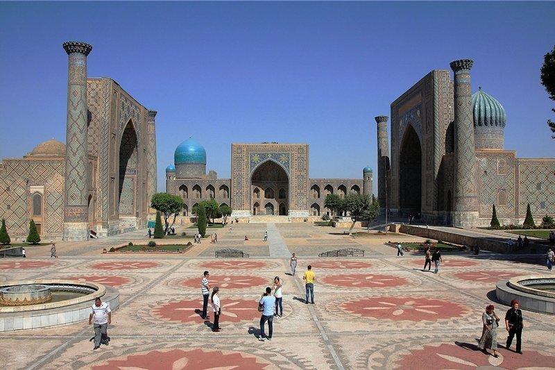 Der Registan in Samarkand: Für manche ist dies der nobelste öffentliche Platz der Welt.