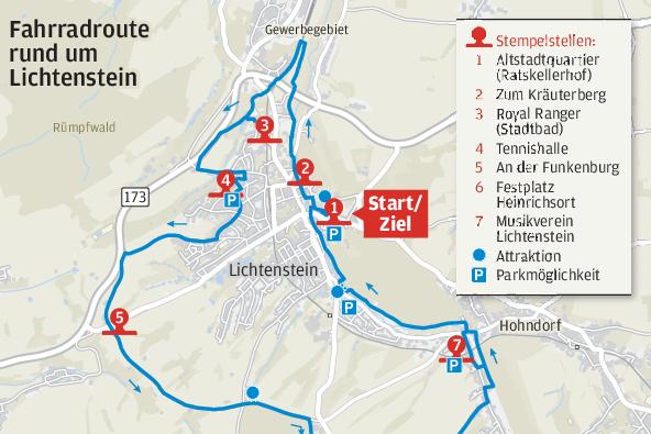 Neuer Verein organisiert Radtour mit Action entlang der Strecke um Lichtenstein