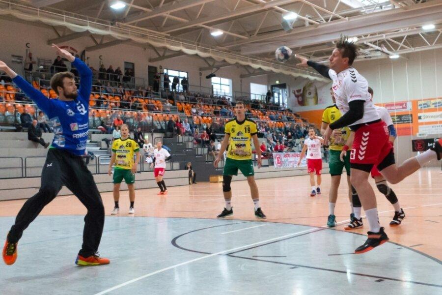 Einheits Maximilian Krüger erzielte gegen Bad Blankenburg sechs Treffer. Das half aber nichts bei der 27:33-Niederlage vor 200 Zuschauern.