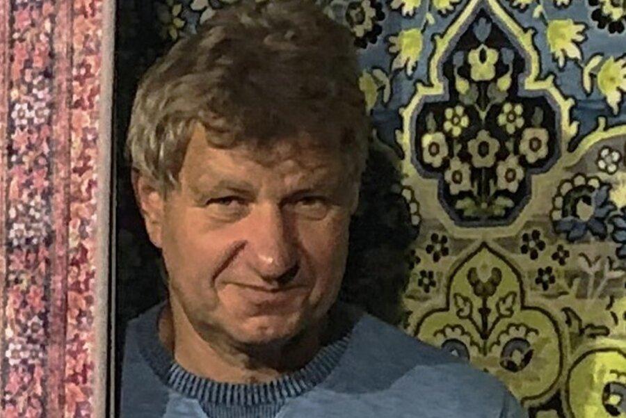 Ralf Litzenberg, Geschäftsführer der Halbmond Teppichwerke Oelsnitz.