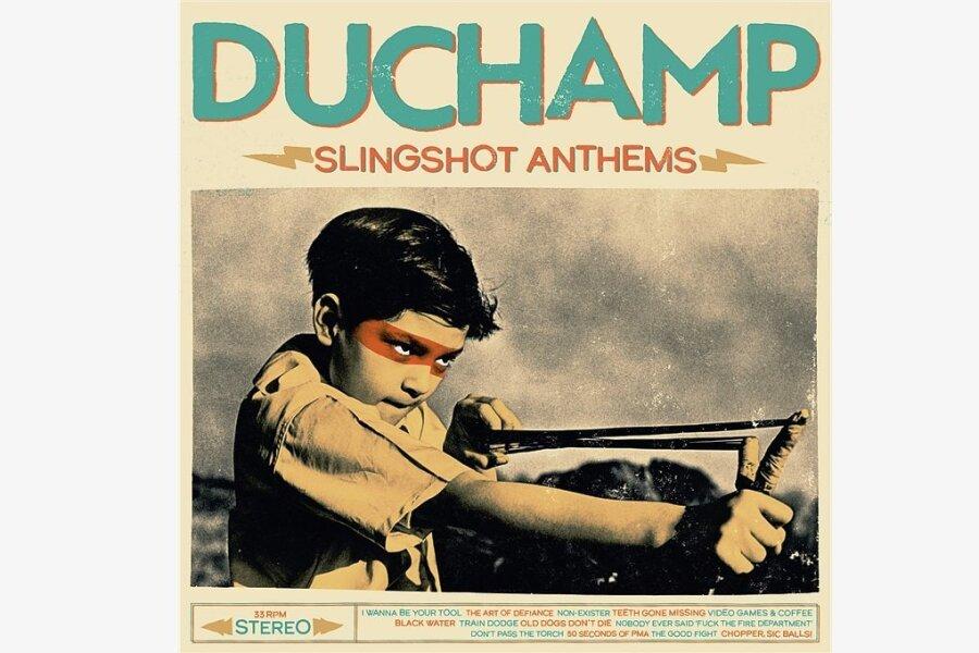 """Ohne Schnörkel: Duchamp mit  """"Slingshot Anthems"""""""