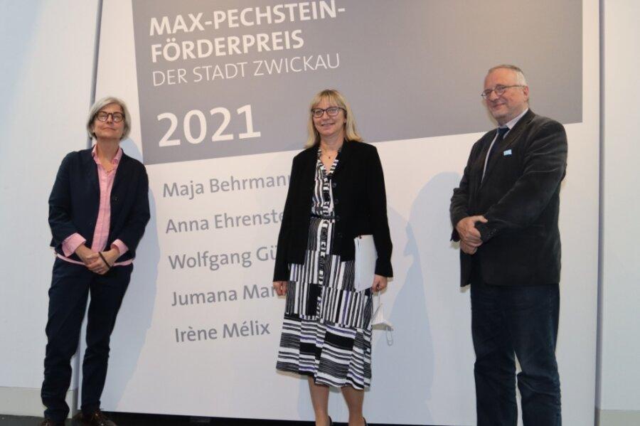 Die Jurymitglieder Jeannette Stoschek, Petra Lewey und Michael Löffler (von links) diskutierten drei Stunden lang.