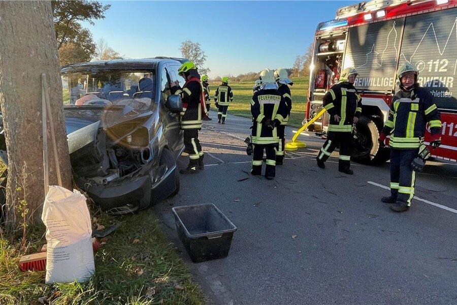Ein schwerer Unfall ereignete sich zwischen Schlettau und Annaberg-Buchholz.