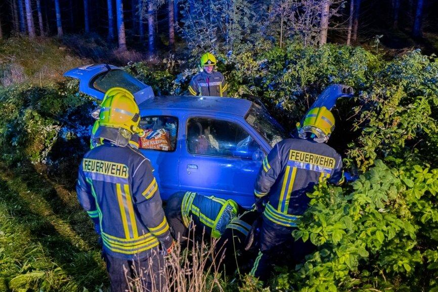 Seniorin bei Unfall kurz vor Schöneck schwer verletzt