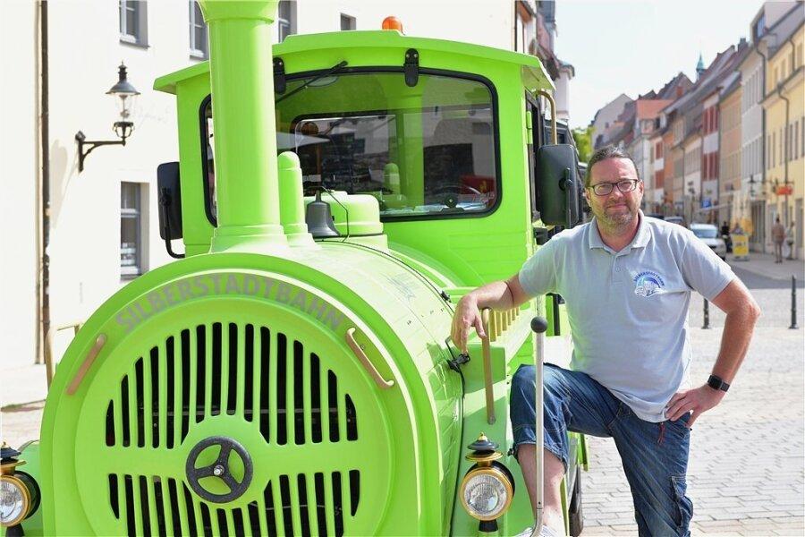 David Matzig ist der Zugführer der Silberstadtbahn.