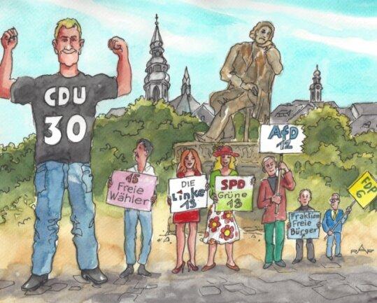 Ohne einen Finger zu rühren, ist die CDU im Vergleich zum Zweiten noch stärker als vorher.