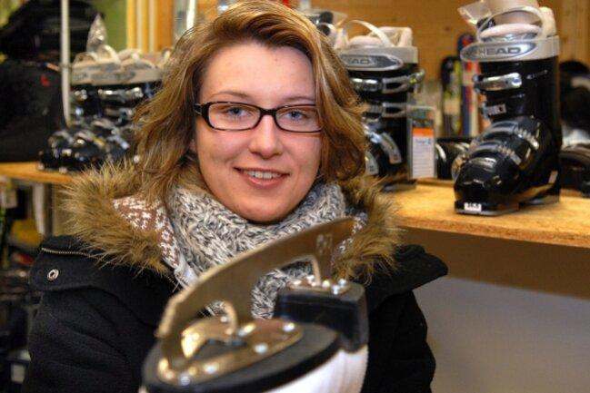 """<p class=""""artikelinhalt"""">Die Mittweidaer Studentin Tina Grassow betreibt Shorttrack. </p>"""