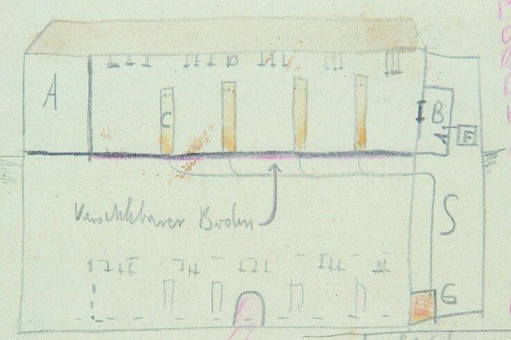 Eine Gaskammer in Ausschwitz.