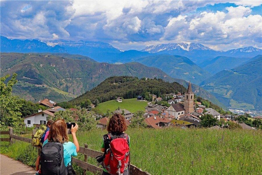 Das Ziel ist erreicht: Das Dorf Jenesien oberhalb von Bozen.