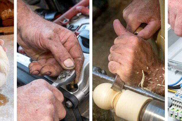 Bäcker, Kfz-Mechatroniker, Drechsler, Elektriker - zwei linke Hände haben im Handwerk nichts zu suchen.