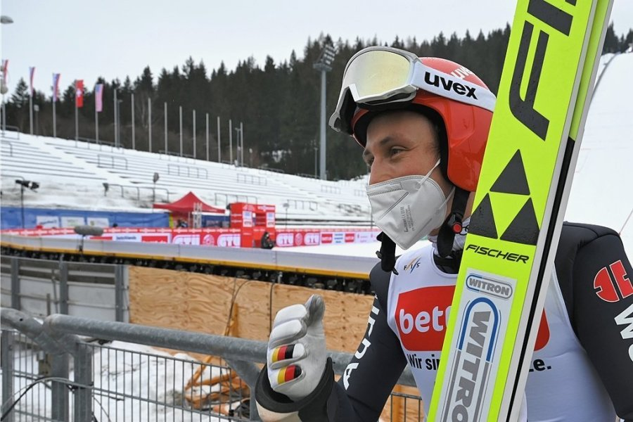 Eric Frenzel stand in diesem Winter in Ruka und im Fleimstal schon auf dem Podest. Klappt es in Klingenthal mit dem ersten Saisonsieg?