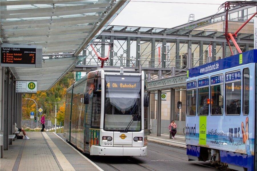 """Der neue Regionalplan hält in Plauen am bestehenden Straßenbahnnetz fest. Dieses sei """"zu erhalten, soweit erforderlich zu erweitern und mit anderen Verkehrsträgern zu verknüpfen"""", heißt es in dem Papier."""