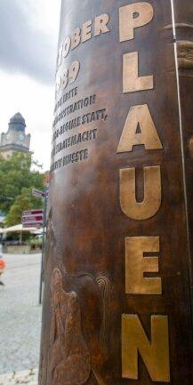 Mit der von Peter Luban geschaffenen stilisierten Kerze erinnert Plauen zwischen Tunnel und Rathaus an die Friedliche Revolution. Nebenan könnte ein Informations- und Dokumentationszentrum zu den Herbsttagen 1989 entstehen. Oder doch besser andernorts?