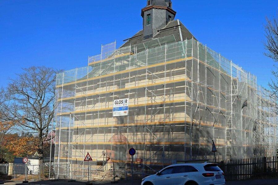 Das ehemalige Grundbuchamt in Werdau wird umgebaut. Einziehen werden Mitarbeiter aus dem benachbarten Polizeirevier.